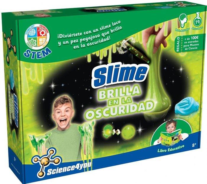 Juego slime brilla en la oscuridad