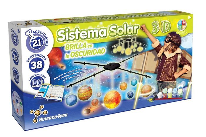Juego sistema solar 3d - brilla en la oscuridad