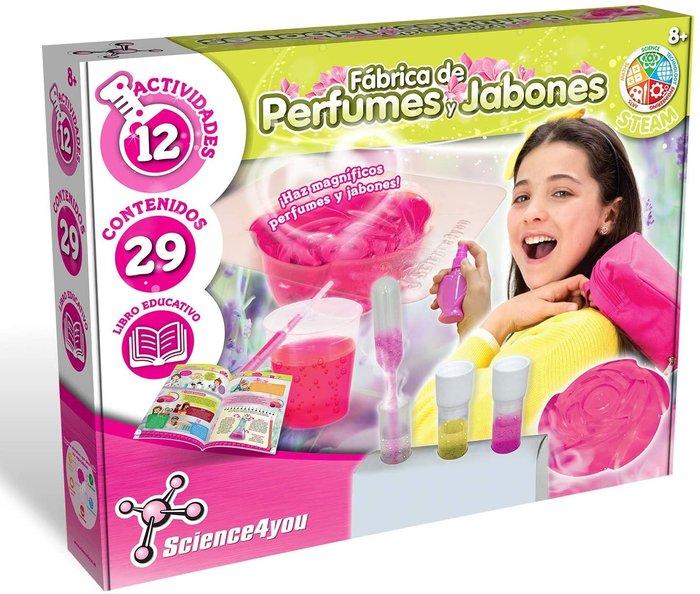 Juego fabrica de perfumes y jabones