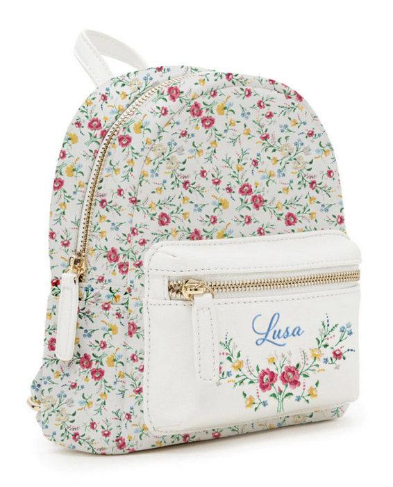 Mini mochila lusa white flowers ref 6161200330018
