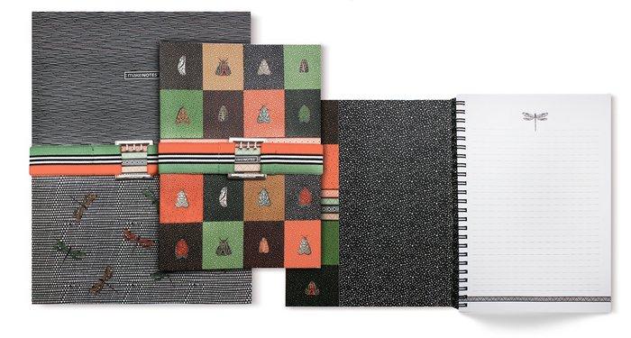 Cuaderno a4 con goma 80 hojas 80 grs rayado metamorphosis