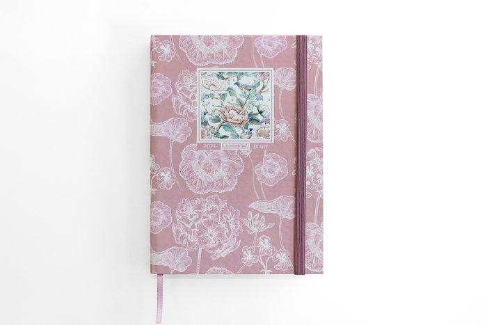 Agenda 2021 a5 sv loving flowers rosa