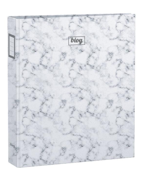 Carpeta a4 4 anillas 30 mm b´log marble chic