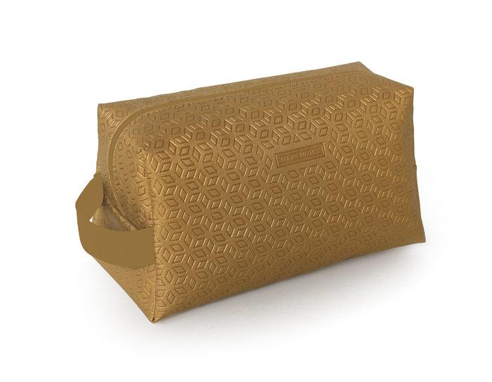 Neceser rectangular one color gold