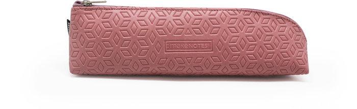 Estuche asimetrico one color pink