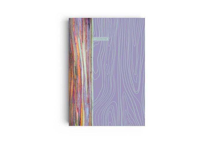 Cuaderno a5 grapado  woodland lila