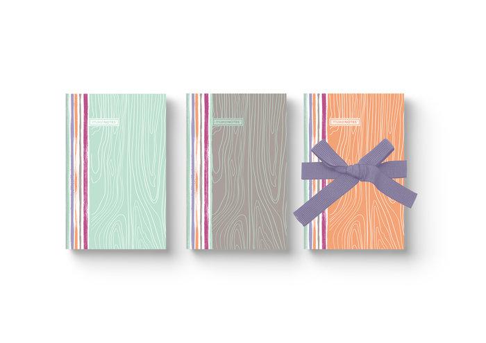 Conjunto de 3 cuadernos 9x14 woodland