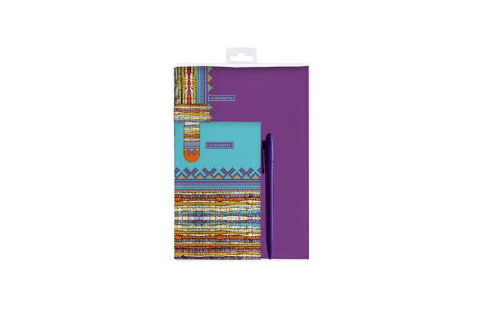 Kit de escritura 2 cuadernos + marcapaginas + boligrafo craz