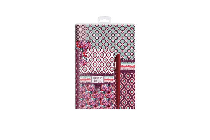 Kit de escritura 2 cuadernos + marcapaginas +  boligrafo blo