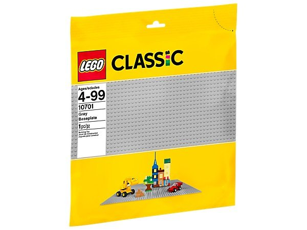 Lego classic 10701 base gris
