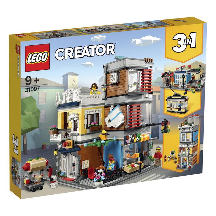 Lego creator tienda de mascotas y cafeteria