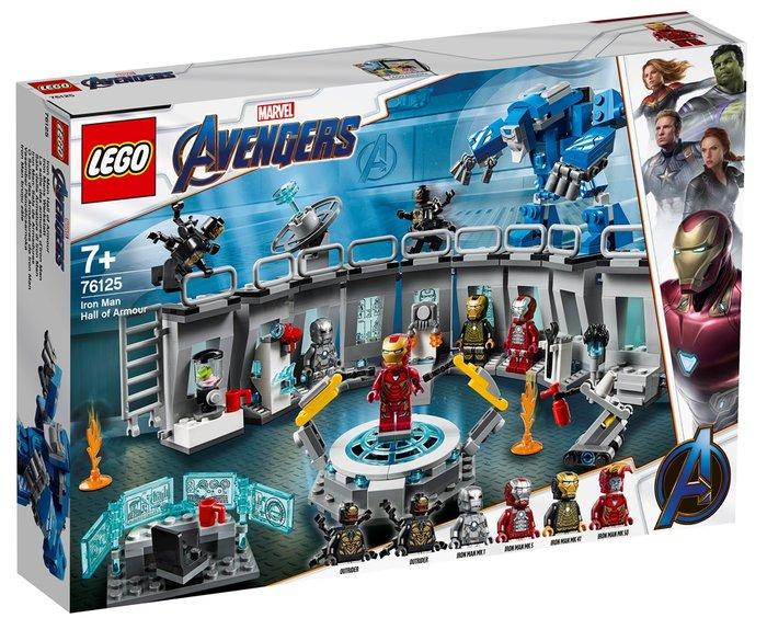Lego super heroes iron man sala de armaduras
