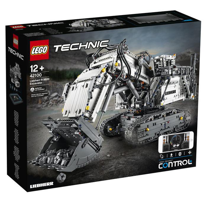 Lego technic excavadora liebherr r 9800 control remoto