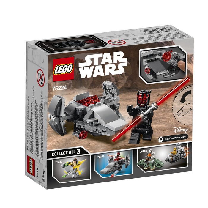 Lego star wars 75224 microfighter infiltrador sith