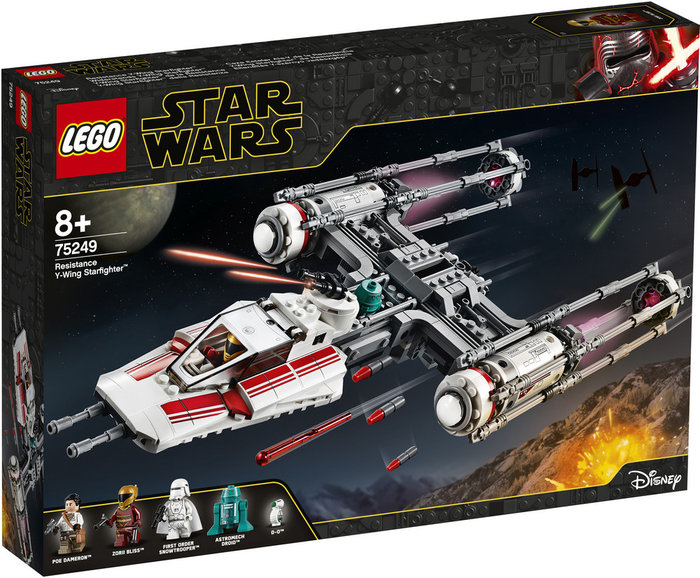 Lego star wars ix 75249 caza estelar ala-y resistencia