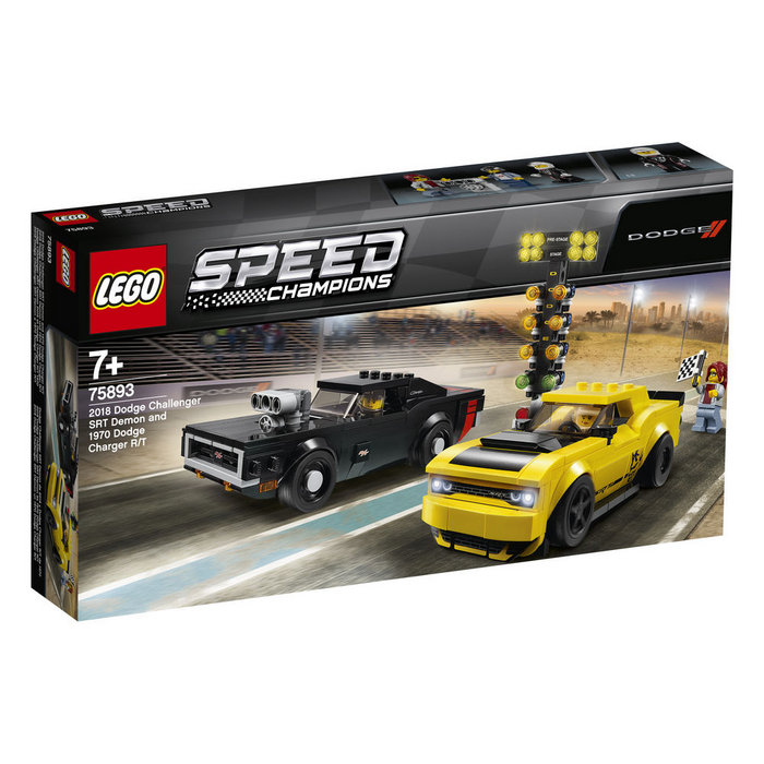 Lego speed champions dodge challenger 2018 y charger 1970