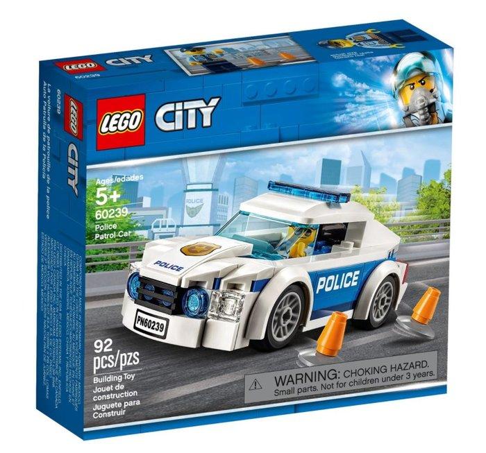 Lego city police 60239 coche patrulla de la policia