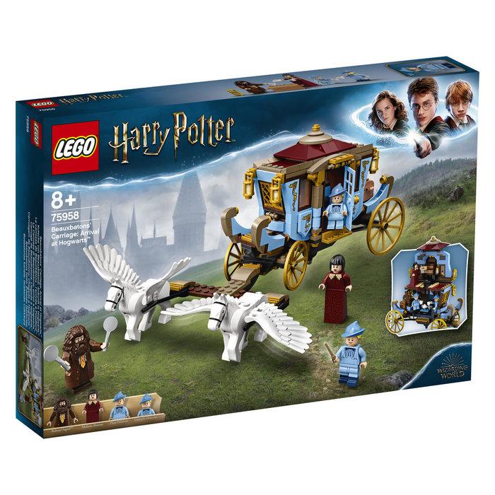 Lego harry potter carruaje beauxbatons llegada a hogwarts