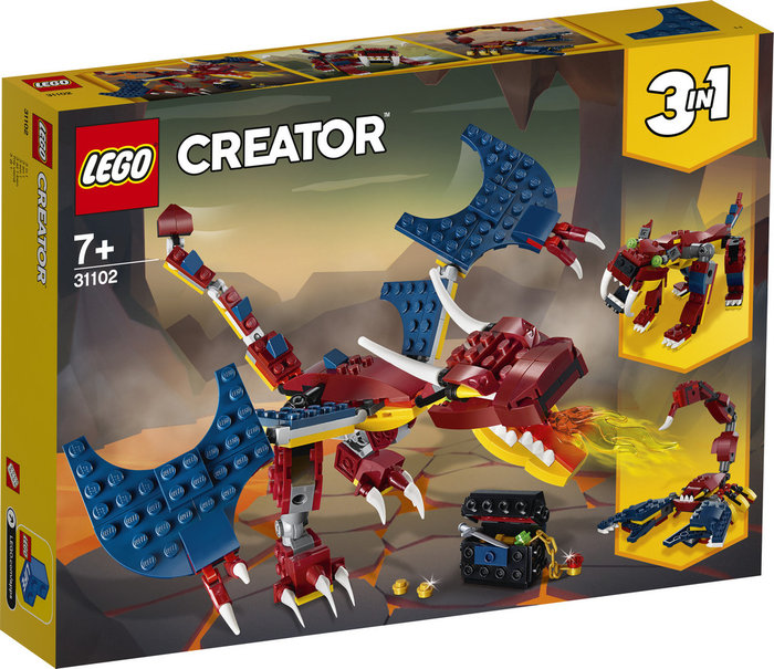 Lego creator dragon llameante