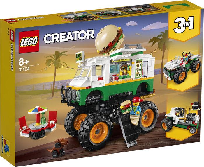Lego creator monster truck hamburgueseria
