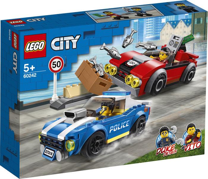 Lego city police policia arresto en la autopista