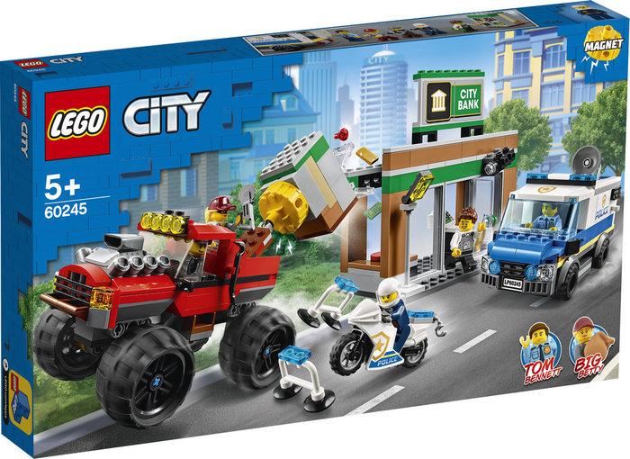 Lego city police policia atraco del monster truck