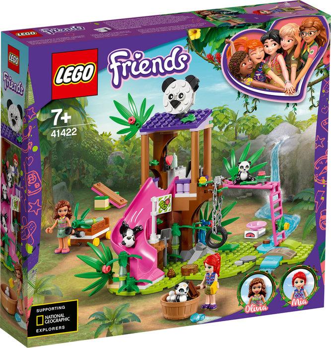Lego friends casa del arbol panda en la jungla