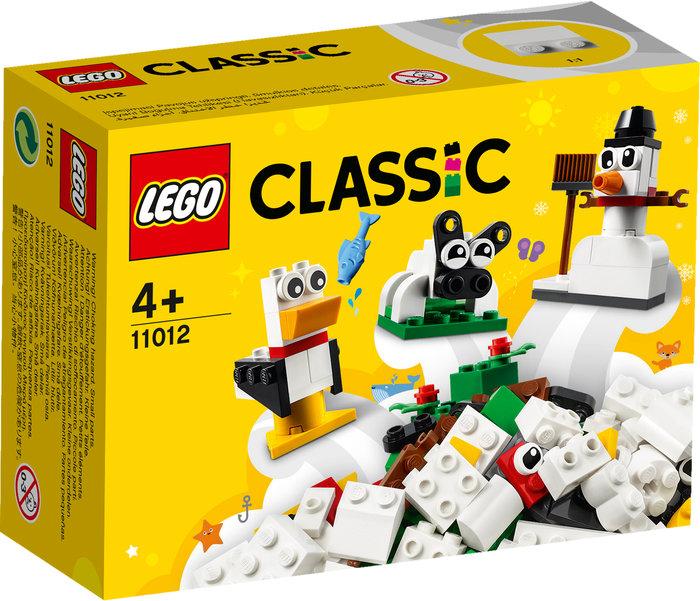 Lego ladrillos creativos blancos