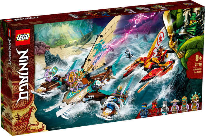 Lego batalla naval en catamaran