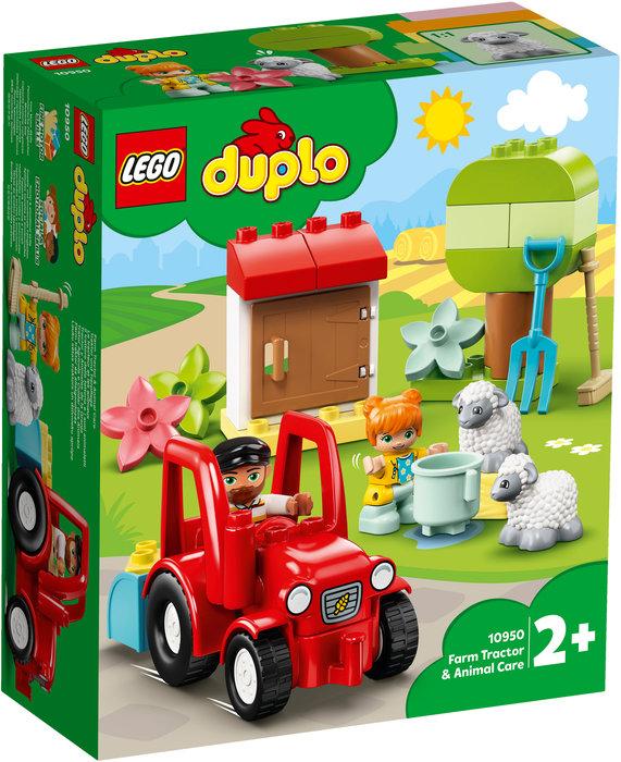 Lego tractor y animales de la granja