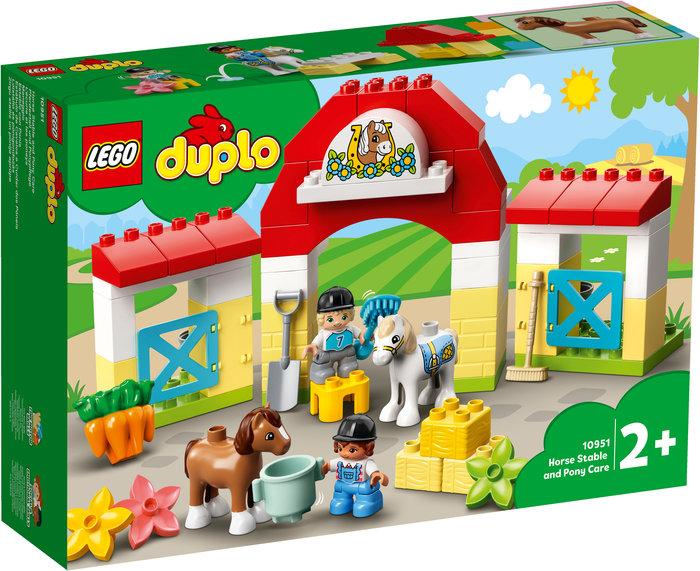 Lego establo con ponis