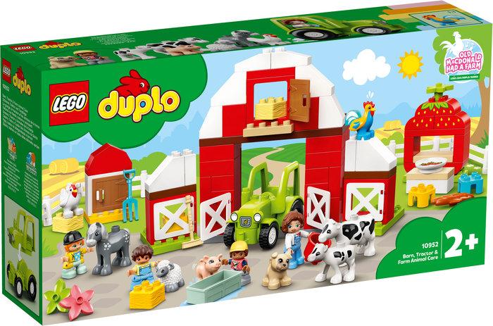 Lego granero, tractor y animales de la granja