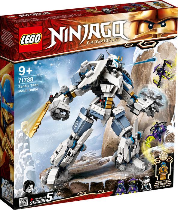 Lego combate en el titan robot de zane