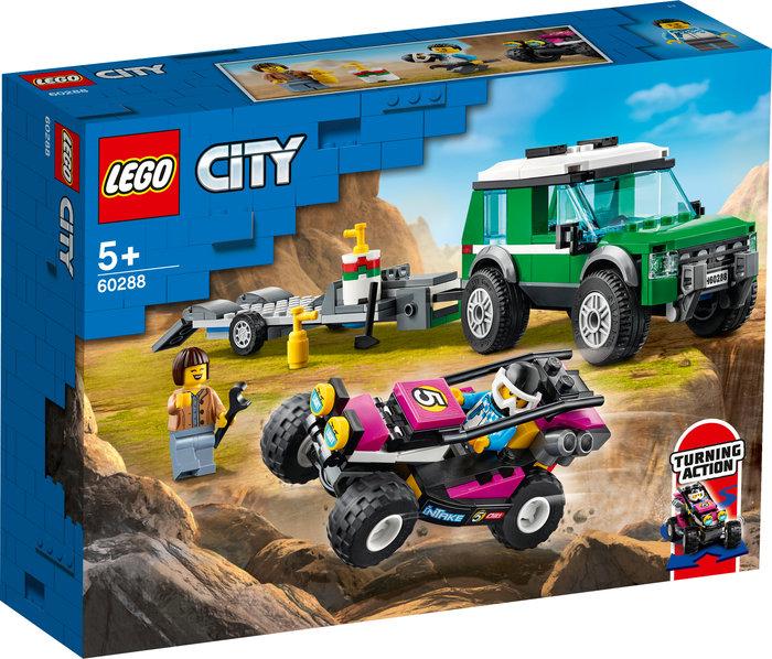 Lego furgoneta de transporte del buggy de carreras