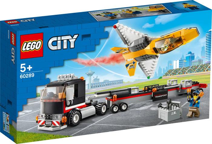 Lego camion de transporte del reactor acrobatico