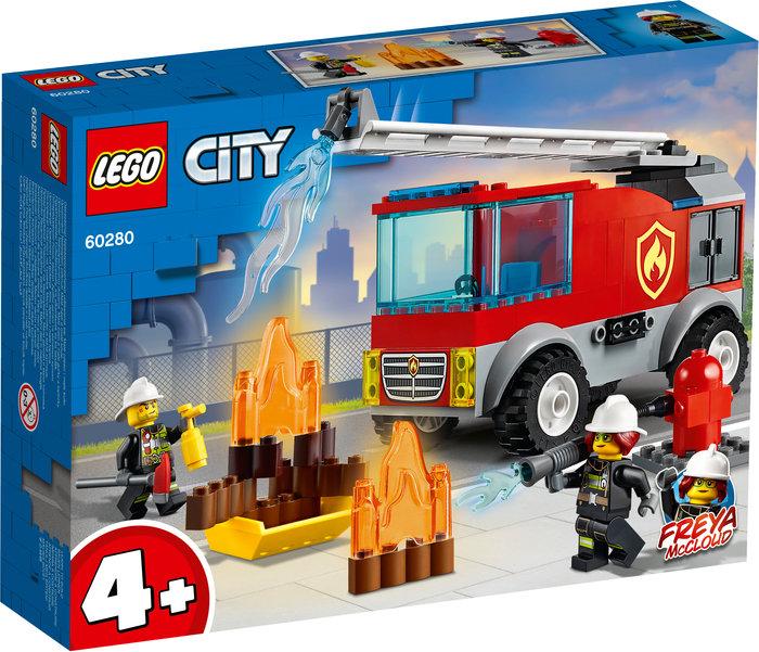 Lego camion de bomberos con escalera