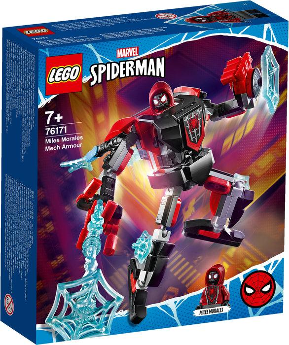 Lego armadura robotica de miles morales