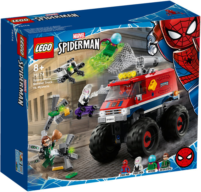 Lego monster truck de spider-man vs. mysterio