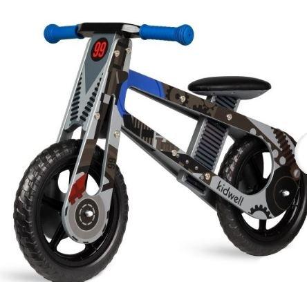 Bicicleta de equilibro madera negra