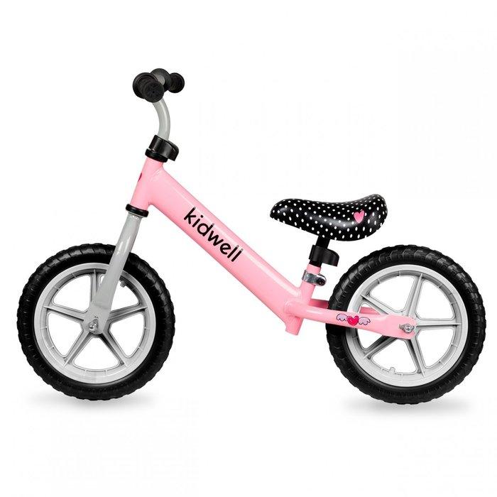 Bicicleta de equilibrio de acero rosa