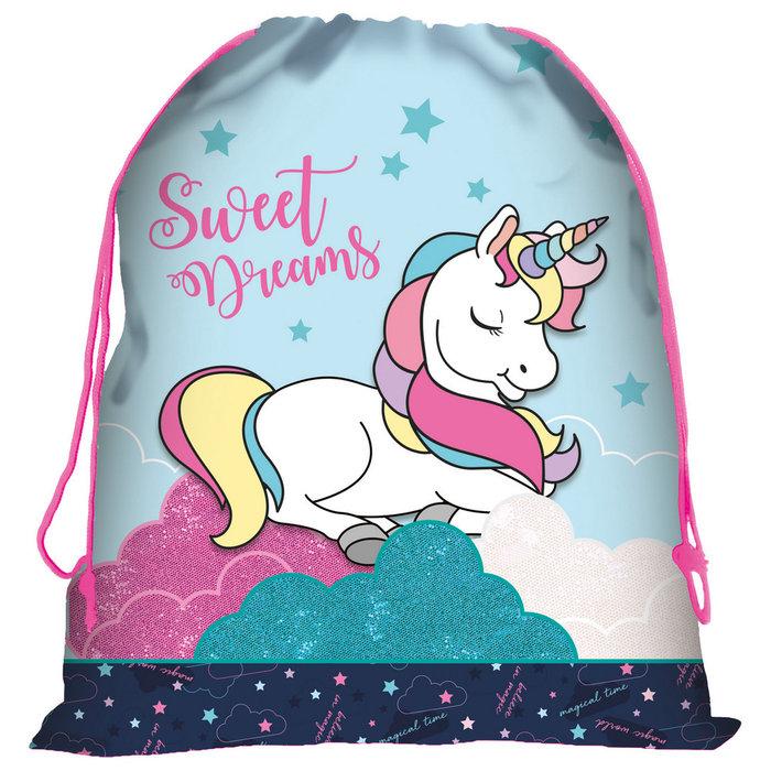 Saco unicornio 12 azul wojr12
