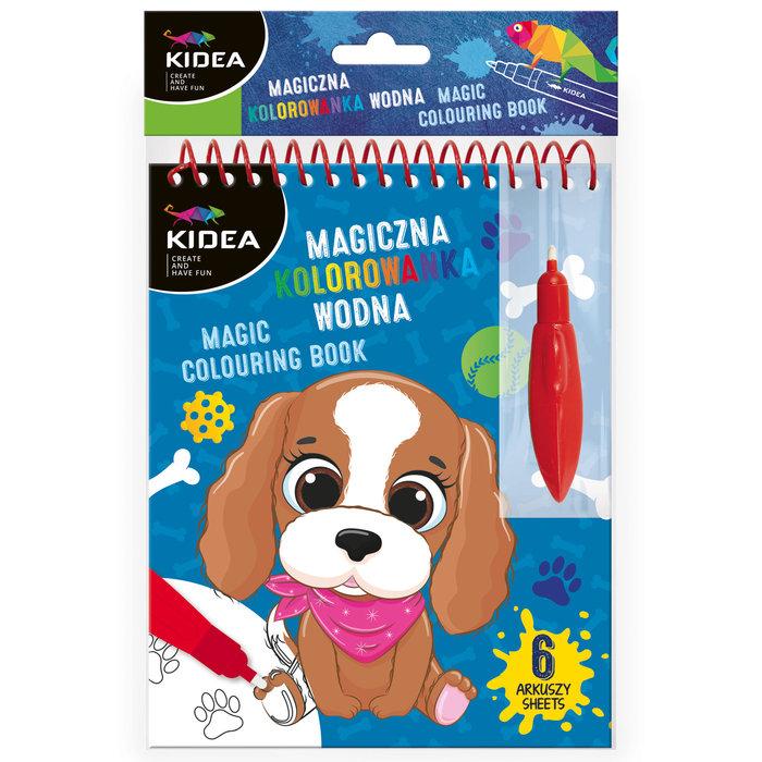Libro de colorear con agua perro