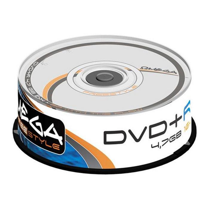 Dvd+r omega freestyle 4,7gb 16x tarrina 25 uds omdf1625+