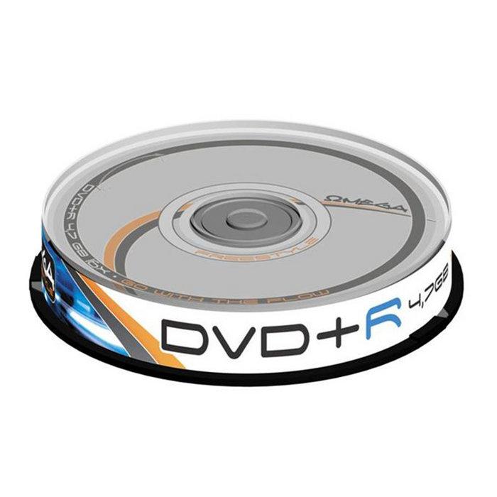Dvd+r omega freestyle 4,7gb 16x tarrina 10 uds omdf1610+