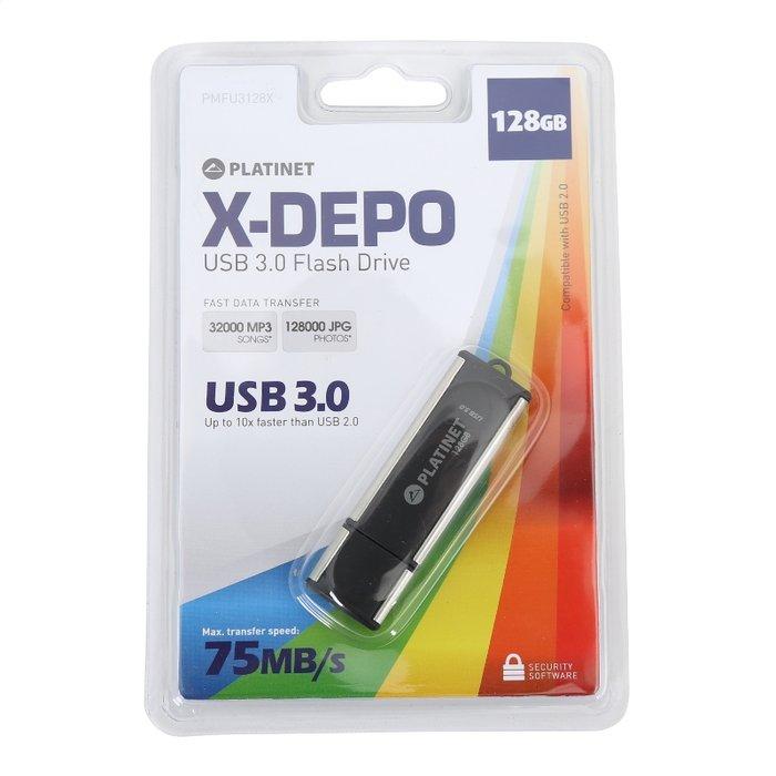 Pendrive 128 gb usb 3.0 x-depo platinet
