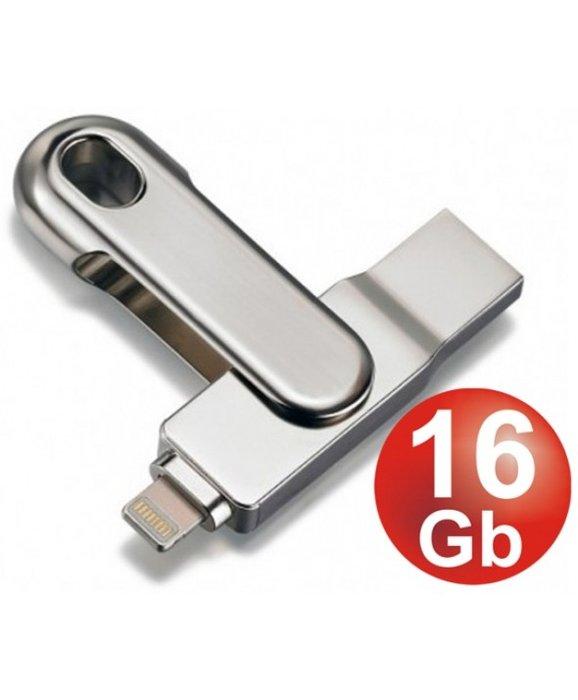 Pendrive doble 16 gb usb 3.0 + lightning plug for ipad&iphon