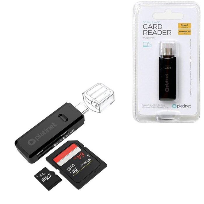 Lector de tarjetas microsd/sd type c platinet