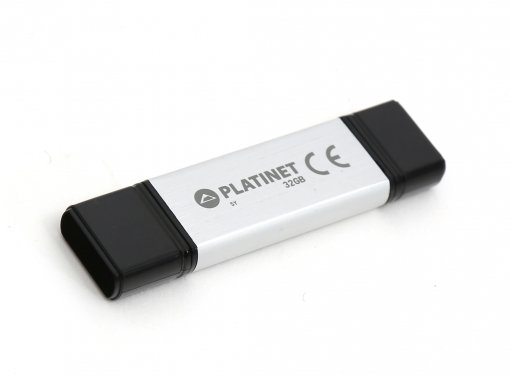 Pendrive doble 32 gb usb 3.0 + type-c silver platinet