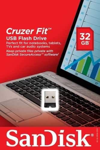Nano pendrive usb 2.0 32gb cruzer fit g35 sandisk