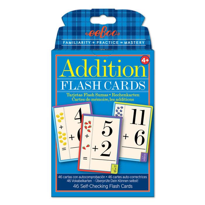 Juego educativo cartas flash cards suma